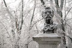 Frozen Statue (Hattifnattar) Tags: frozen statue ice snow bokeh pentax dfa2470mm