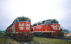 CB&Q GP35 984 (Chuck Zeiler48Q) Tags: cbq gp35 984 gp30 956 burlington railroad emd locomotive galesburg train chuckzeiler chz