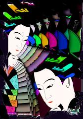 Japanese fantasy (SØS: Thank you for all faves + visits) Tags: color colorful digitalartwork art kunstnerisk manipulation solveigøsterøschrøder artistic japan rainbow women 100views 300views 500views 600views