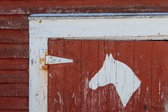 High Horse (vanessa violet) Tags: wood red highhorse horse door home house barn