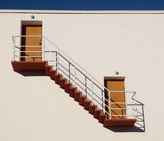 (Topolino70) Tags: stairs wall sky blue