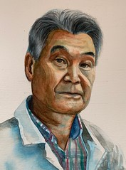 My father. (BastetAcid) Tags: hiroakitakashima sketch watercolorportrait portraiture retrato acuarela portrait watercolor watercolors