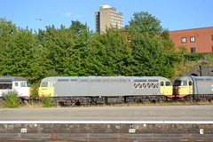 UKRL 56104 & 56098 (Will Swain) Tags: leicester station 2nd august 2018 train trains rail railway railways transport travel uk britain vehicle vehicles england english europe class 56 ukrl 56104 56098 104 098 98