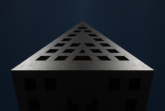 VI:D | SUPERSYMMETRY (miemo) Tags: abstract architecture blue digitalart mirrored scifi sky supersymmetry symmetrical symmetry santacruzdetenerife canarias spain es