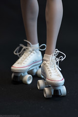 Cat Toys Female Fitness Clothing Set (edwicks_toybox) Tags: 16scale cattoys tbleague converse femaleactionfigure flirtygirl phicen rollerskates shorts sneakers tanktop