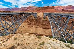 Navajo Bridge (ValeTer_) Tags: bridge canyon badlands rock formation national park geology trestle sky truss navajobridge nikon d7500 landscape nature arizona