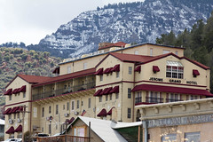 Jerome Grand Hotel (raptoralex) Tags: jerome arizona canon ghosttown haunted building canon60d 70200f28 70200 jeromegrandhotel grandhotel snow mountain historic