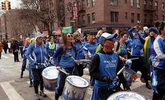 Fogo Azul at the Sunnyside/Woodside St. Pat's For All Parade (neilsonabeel) Tags: fogoazul nikonn90s nikon nikkor film analogue queens newyorkcity parade stpatsforall