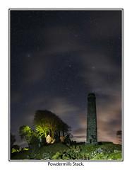 Powdermills06 (mdsphotoimages1) Tags: stars sky clouds color stacks ruins