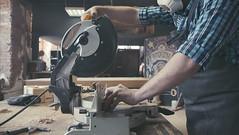 panel saw in the carpentry workshop (SawAdvisor) Tags: circular saw woodworking carpenter cutting circularsaw