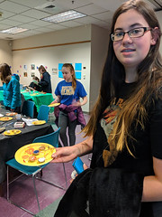 MVIMG_20190314_163430 (Billerica Public Library's Photostream) Tags: billericapubliclibrary youngadultprogram pie day pi table talk 314