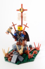 Holy Land Faction Hero: Alberic the Battle Cleric (WarScape) Tags: warscape military hero lego fantasy medieval holy army minifigure custom