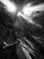 Da Nang 22 (arsamie) Tags: danang vietnam asia marble mountains temple underground light ray beam ngu hanh son rock faith religion buddhism buddha bw bnw black white