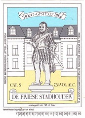 Netherlands - De Friese Bierbrouwerij (Bolsward) (cigpack.at) Tags: defriesebierbrouwerij netherlands holland bolsward defriesestadhouder bier beer brauerei brewery label etikett bierflasche bieretikett flaschenetikett