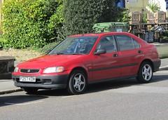 1996 Honda Civic (occama) Tags: 257 kdm 1996 honda civic red old car cornwall uk japanese bangernomics
