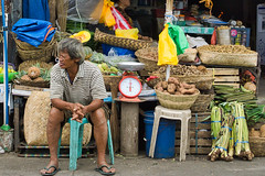 Vegetables (Beegee49) Tags: street man people vegetables selling stall market happy planet sony a6000 luminar bacolod city philippines asia