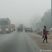 Kumasi / Ejisu morning - hazy road