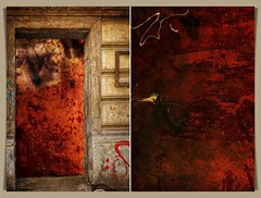 the truth is visible where the door is open (kazimierz.pietruszewski) Tags: abstraction abstract form composition digipaint digitalart concept graphic colorful border diptych 21