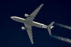 Air Italy Airbus A330 EI-GGR (stephenjones6) Tags: jet aircraft airbus aviation air italy italian a330 blue sky skywatcher civil contrail chemtrail vapour vapourtrail vapourtrails telescope d3200 dobsonian nikon ott highaltitude high highflyer eiggr msn638 extremespotting