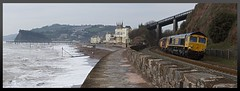 Convoy In Context (Stapleton Road) Tags: gbrf train seawall teignmouth class66 class50 class73 73107 50049 50007