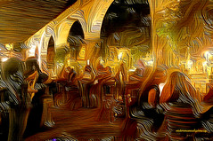 GOLDEN BAR (Viktor Manuel 990.) Tags: bar golden dorado night noche abstract abstracto textures texturas digitalart artedigital g victormanuelgómezg restaurant