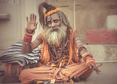 simha sadhu (andy_8357) Tags: sony a6000 ilce6000 ilcenex alpha 6000 mirrorless man portrait portraiture sigma 60mm f28 dn art sadhu varanasi india ganges holy uttar pradesh clothes beads rudraksha