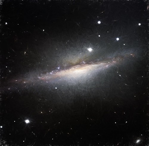 NGC 1055 Edge-On Galaxy, variant