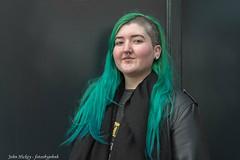 Lauren - DSC_0338-Edit (John Hickey - fotosbyjohnh) Tags: 2019 dublin january2019 woman lady stranger portrait female person people hair greenhair style flickr nikon nikond750
