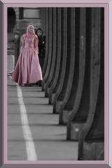 """Pont de Bir-Hakeim"" - France Paris (roger gabriel simon) Tags: blackandwhite monochrome paris city ville mariage wedding bnw bw noiretblanc photography france theinceptionbridge canon canonpowershotg5x schwarzundweiss frankreich personne pontdebirhakeim birhakeim colonnes columns metal"