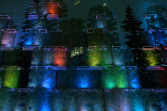 Glassy Forest (PHOKUZNET) Tags: facade wall glass colors illuminated evening exterior city urban moscow russia easterneurope europe light