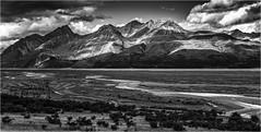 Mount Cook Highway (photographybytomlane) Tags: leica leicasl newzealand mountcook monochrome southislandnewzealand blackandwhite