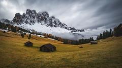 Les alpages du Geisler (Arnaud Grimaldi) Tags: dolomiti dolomites italia italie montagne alpage val di funes odle mont vilnoss autumn tyrol mountain geisler valley