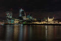 The Nocturnal City (ralcains) Tags: london england architecture arquitectura lights ngc river thames night nightphotography telemetrica rangefinder longexposure leica leicam240 leicam tower torre