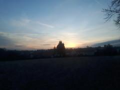 Good morning Hohenwart (Steffi.K.) Tags: sonnenaufgang sunrise schatten shadows pforzheim pforzheimhohenwart sky himmel hiwosomoshots houses bäume trees orange yellow gelb