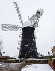 Holgate Windmill in snow, February 2019 - 10