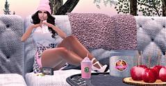 Destiny ~ Pink Sweet Treat (Destiny Mynx) Tags: lushposes curves palegirlproductions hearthomes junkfood cosmopolitan levelevent worldofmagic runaway fameshed pinkcreampie elleboutique elise klassik dubai throned southernroots