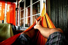 Hammock time (tjh81) Tags: hammock colors chill cabin summer warm holiday lazy shorts cozy finland canon day nap colorful toes window