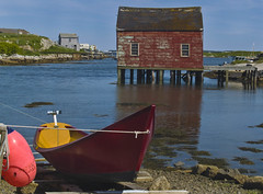 Summer By The Sea (william louch) Tags: seascape boat dory boathouse