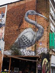 Crane by artist ROA (HVHY4C3E7S3Y3Q3HRVKYFJJLOK) Tags: graffiti art flyposting bricklane london roa