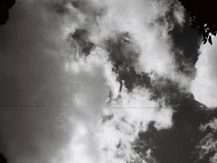 Lo-fi clouds (Matthew Paul Argall) Tags: boots110teleautoflash 110 110film subminiaturefilm lomographyfilm 100isofilm blackandwhite blackandwhitefilm grainyfilm cloud clouds sky