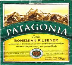 Argentina - Cervecería y Maltería Quilmes (Quilmes) (cigpack.at) Tags: argentina argentinien quilmes patagonia bohemianpilsener bier beer brauerei brewery label etikett bierflasche bieretikett flaschenetikett cerveceríaymalteríaquilmes