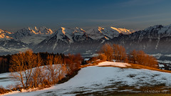 Last ligths on the Berner Alps (Switzerland) (christian.rey) Tags: belpberg alpes bernoises alps berner alpen coucherdesoleil sunset bern hiver winter landscape paysage mountains bergen montagnes swiss schweiz sony alpha a7r2 a7rii 24105