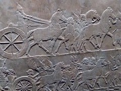 UK - London - Bloomsbury - British Museum - Relief showing Assyrian military triumph (JulesFoto) Tags: uk england london britishmuseum assyria sculpture chariots