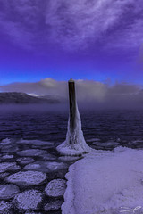 DON'T Lick the Pole (steve rubin-writer) Tags: glacier national park montana us lake macdonald frozen pole flickr flicker steve rubin writer