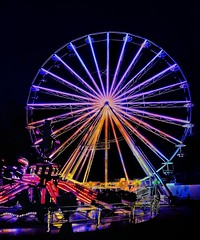 Wheel (albatta.ihab) Tags: wheel color cool colorful lights night attraction festival tourisme fun travel celebration city citylife uae abudhabi