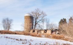 Remaindered (Wicked Dark Photography) Tags: landscape wisconsin abandoned barn decay derelict ruin ruins silo winter