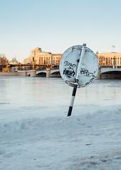 Sign (Igor Kozin) Tags: winter sign spb graffiti ice cold river