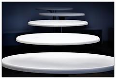 No catering (frodul) Tags: wiederholung rund kreis weis tischplatte hannover repetition oval detail gestaltung kurve niedersachsen deutschland blau white blue