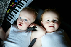 music twins (Too busy with Doctors' appointments) Tags: toddler twins music