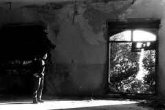Traguardare (Nicola Rigo) Tags: venezia fotografia analogica rullino grana yashica ilford abbandono luce e ombre bianco nero black white silenzio solitudine poveglia